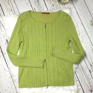 Belldini zip front cardigan sweater size XL